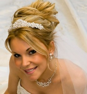 Greek Updo with Tiara