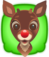 1 Pin the Nose on Rudolph