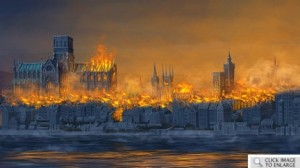 9 The Great Fire of London in 1666